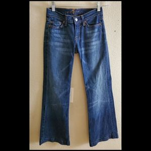 7 For All Mankind Dojo Flare Denim Jeans 26